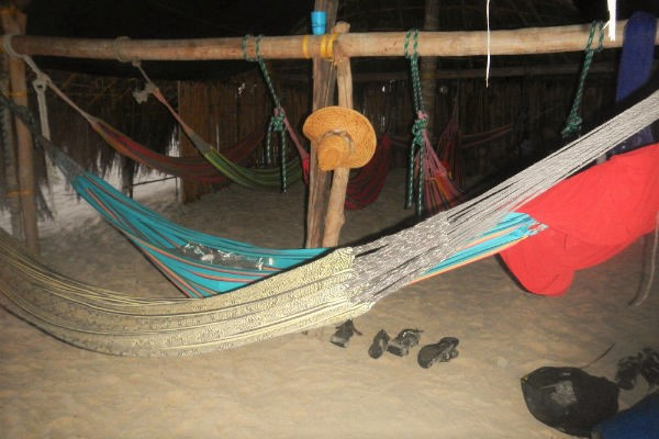 hammocks at diadup guna yala san blas tropical sea kayaking
